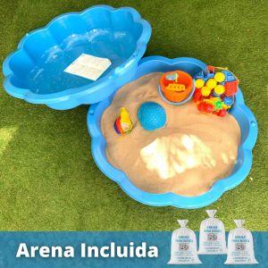 Pack Arenero plástico + 3 sacos de Arena.