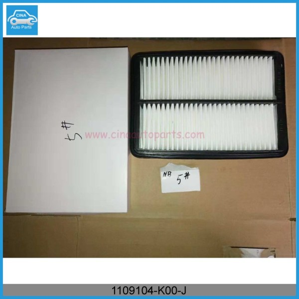 1109104 K00 J实物图 - Great wall haval air filter core OEM 1109104-K00-J