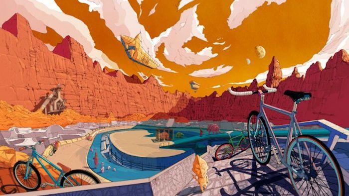 amazing illustrations of Jiang Shan
