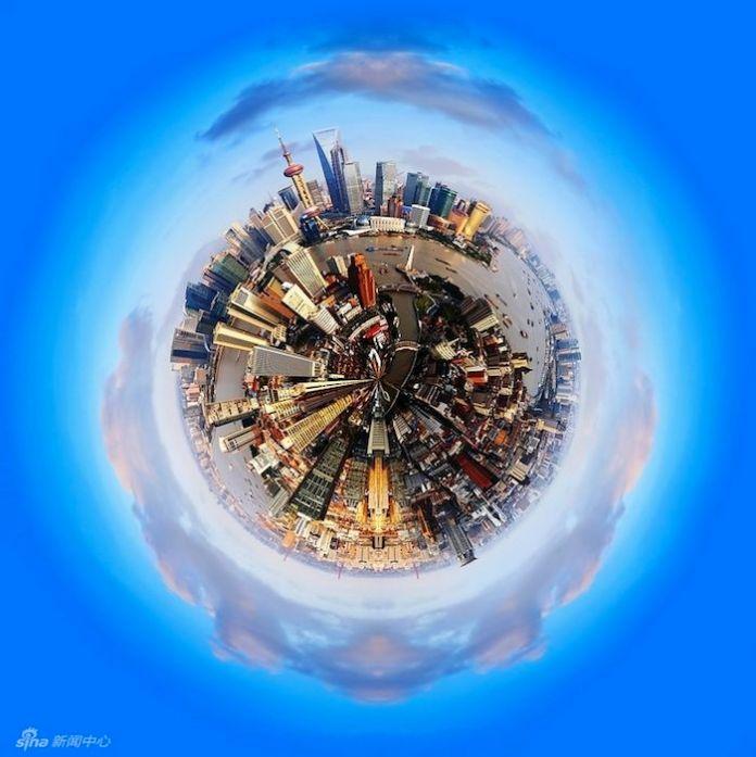 panoramic photos of Shanghai