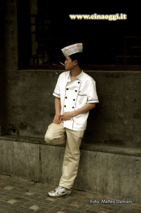 Young Chinese cook