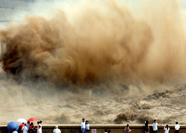 xiaolangdi-3 pictures of floods in China