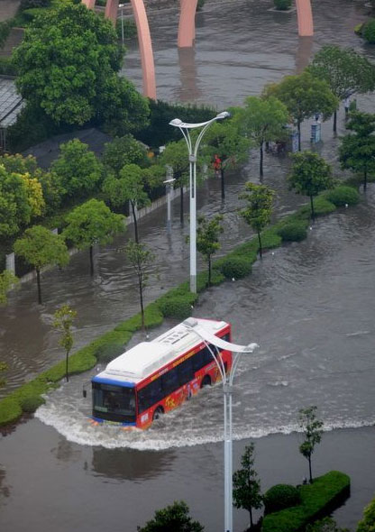 yangzhou pictures of floods in China