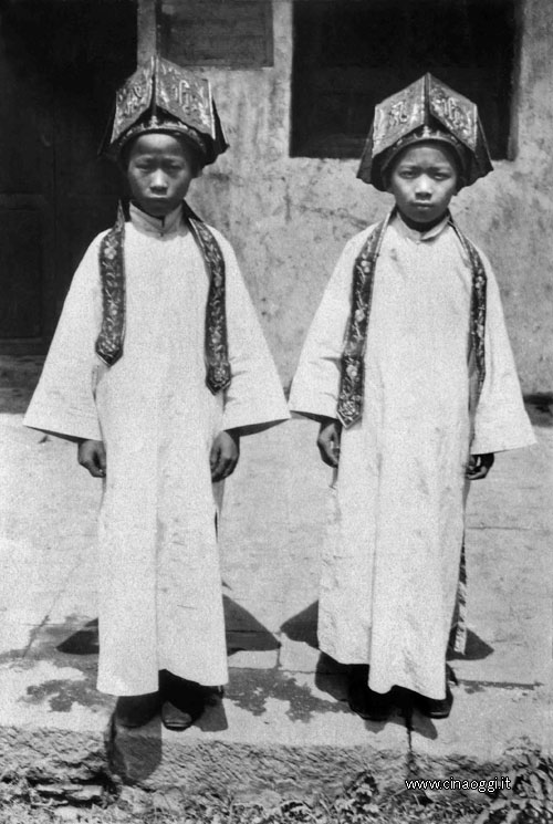 Girls in their festive dress for their first communion