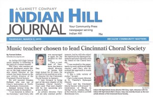 Phil Clary Story - Indian Hill Journal - 3-5-15
