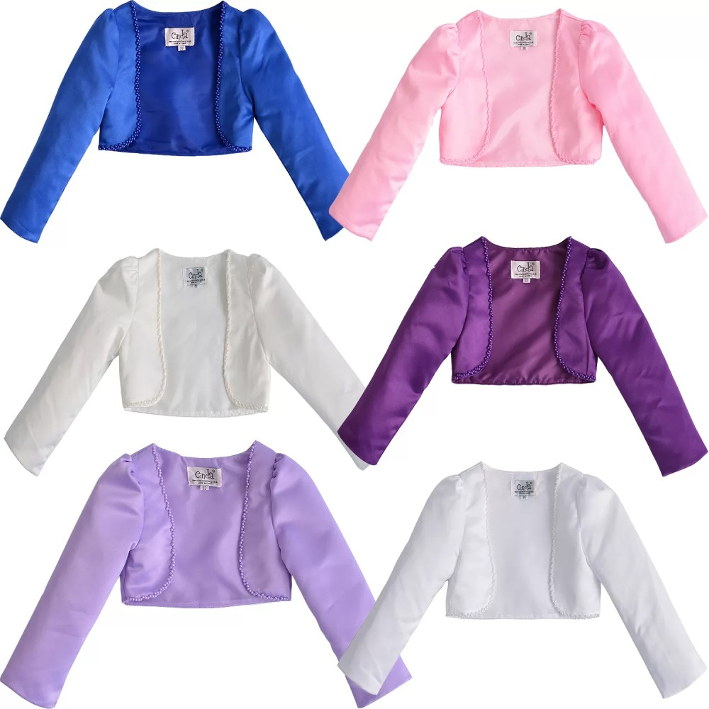 Girls Long Sleeve Bolero