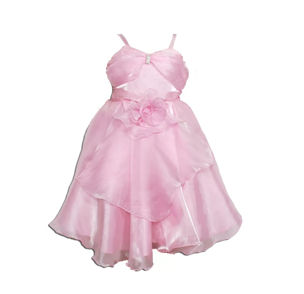 Girls Party Dress in Pink Red White K006