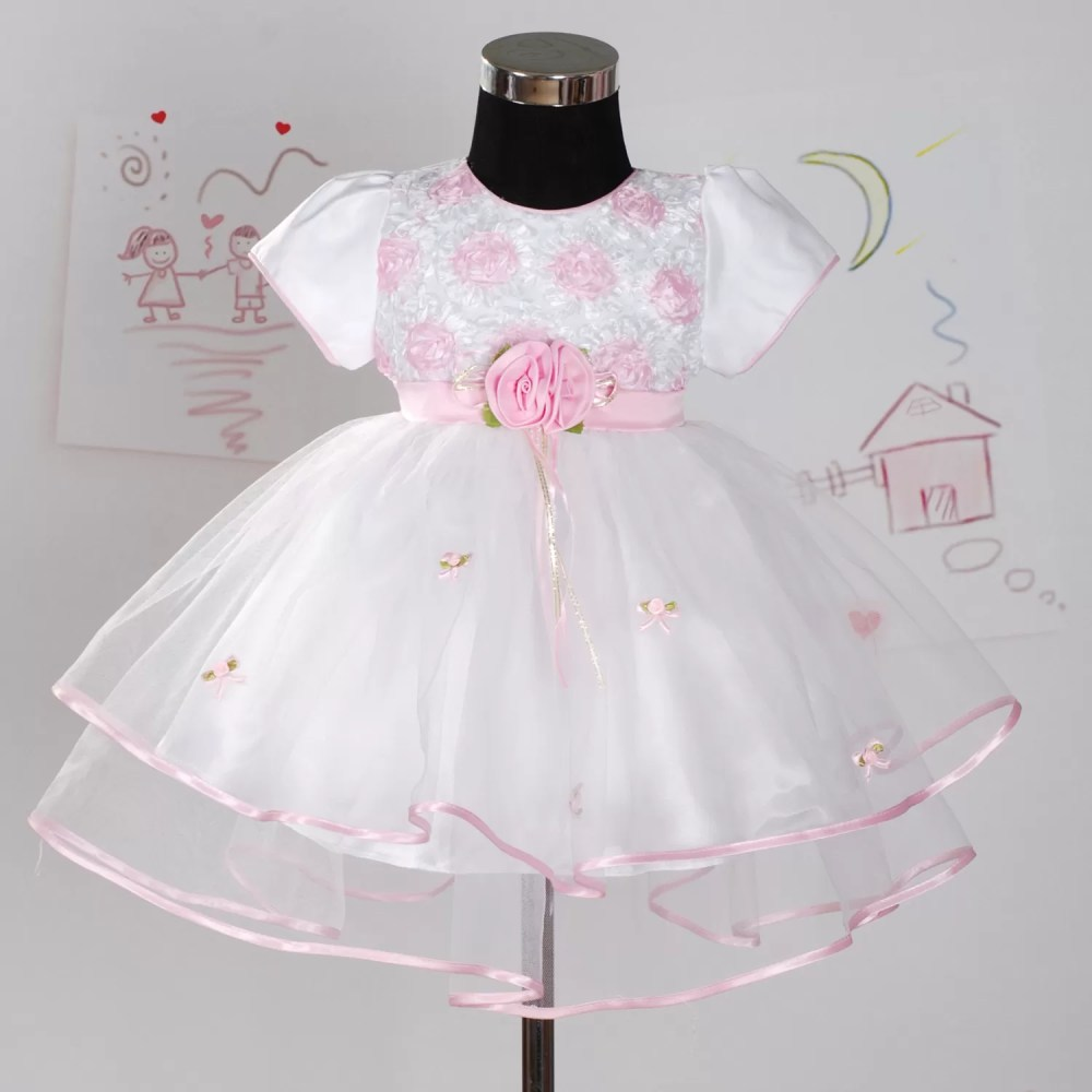 Baby Girls Christening Dress Party Dress Pink Lilac White 7534