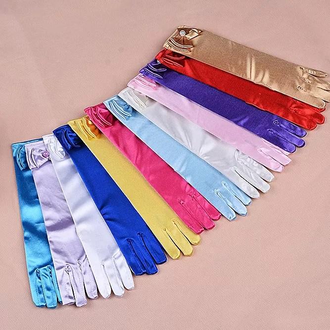 Holy Communion Flower Girl Gloves 11 Colours 4-8 Years