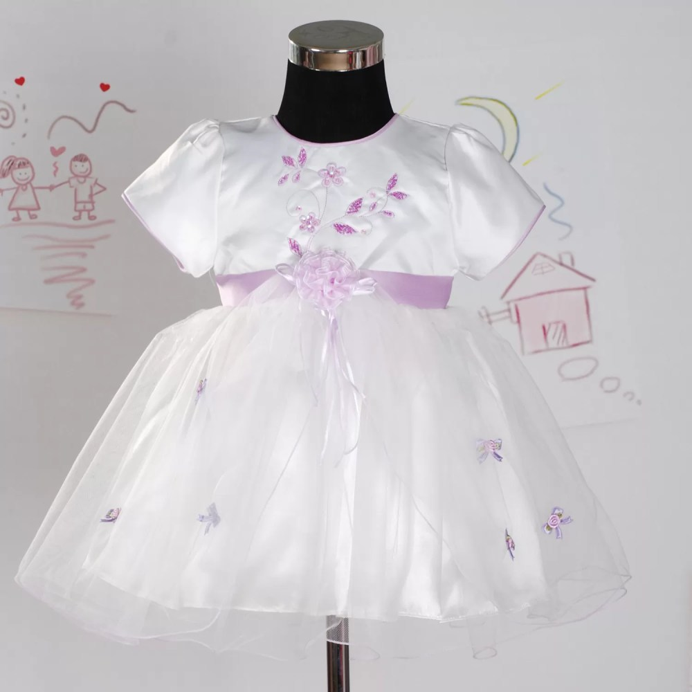 Baby Girls Party Dress Hot Pink Lilac White 0-18 Months