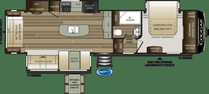 keystone cougar floor plan