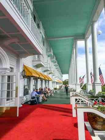 Grand Hotel Mackinac Island Porch