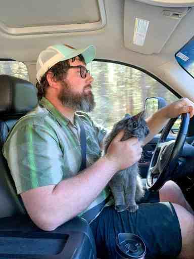Barrett with Cat