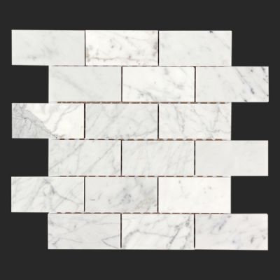 Bianco Carrara subway tile polished