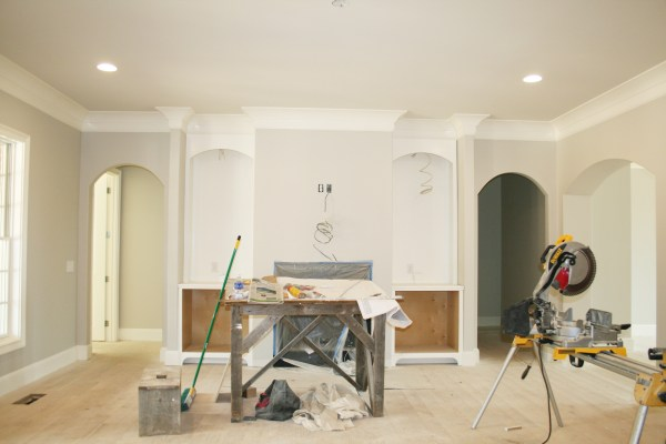 built ins by fireplace