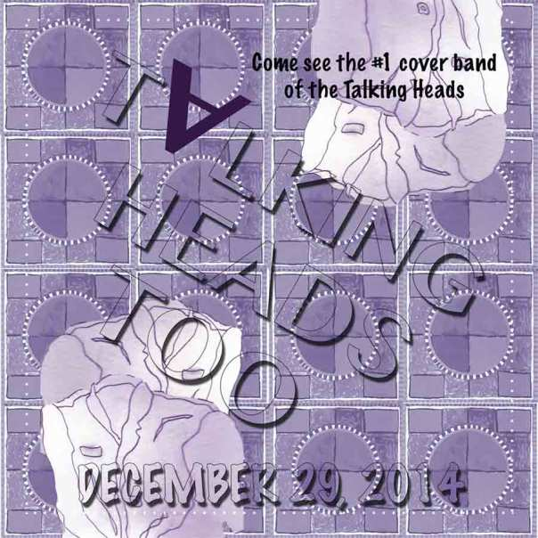 image of a poster for a Talking Heads cover band