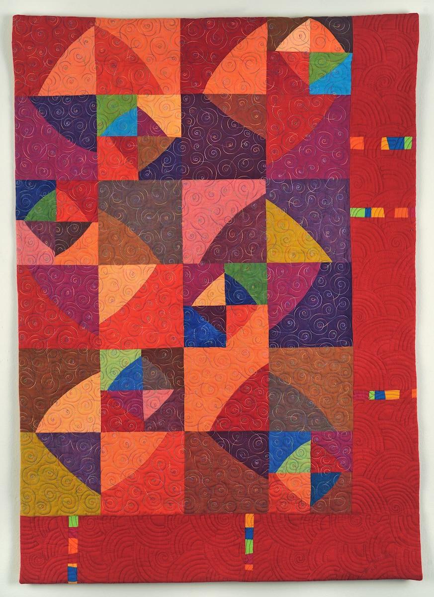 Calypso red art quilt - Cindy Grisdela