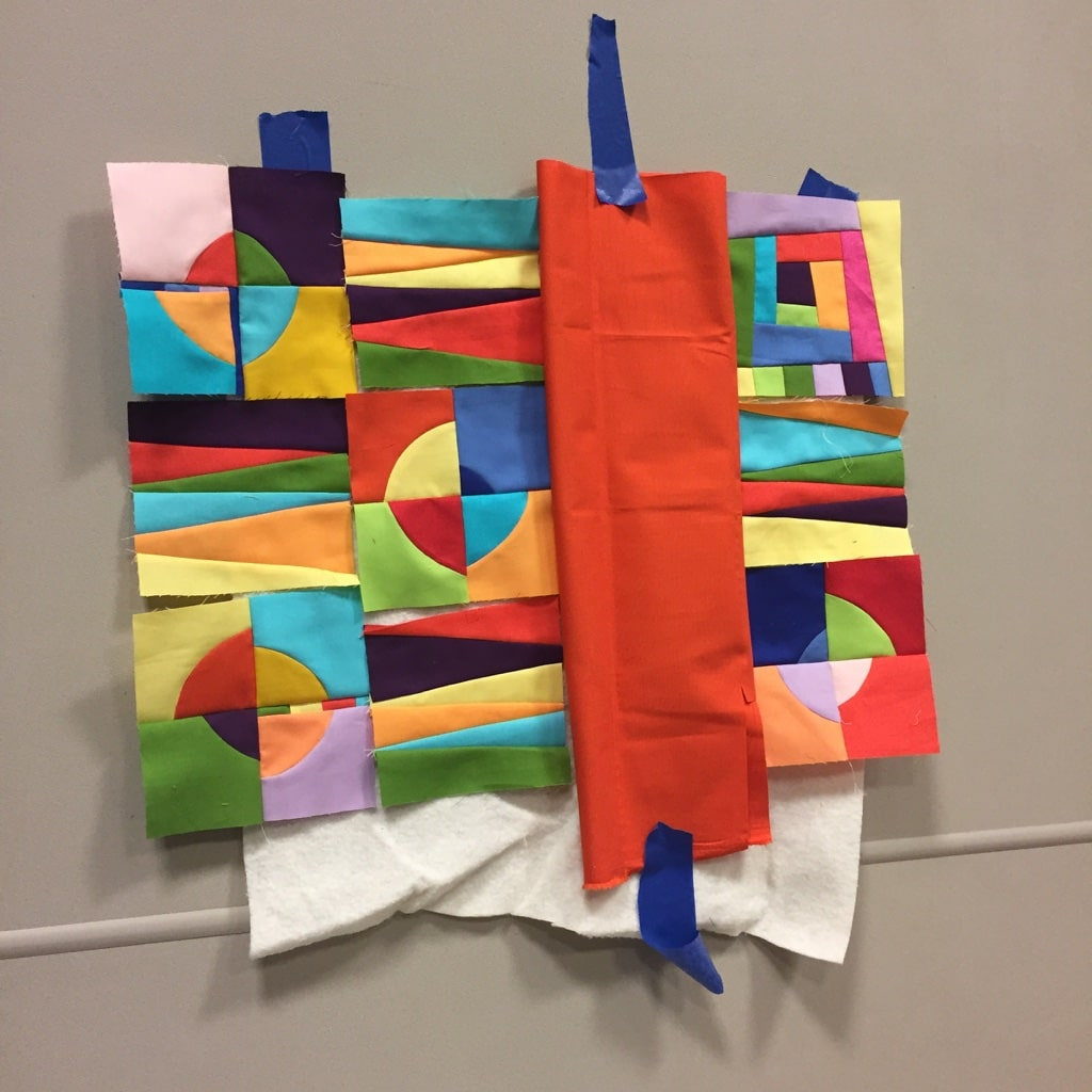 Maria's Artful Improv quilt Road to California 2018 - Cindy Grisdela