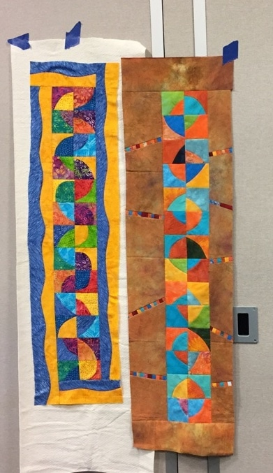 Student Work Fearless Curved Piecing Road to California 2018 - Cindy Grisdela