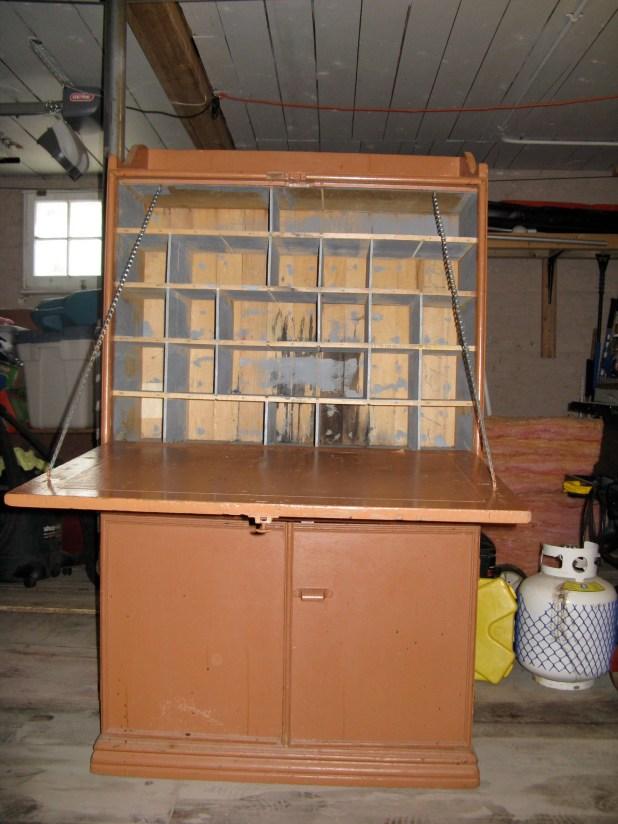 vintage cabinet interior