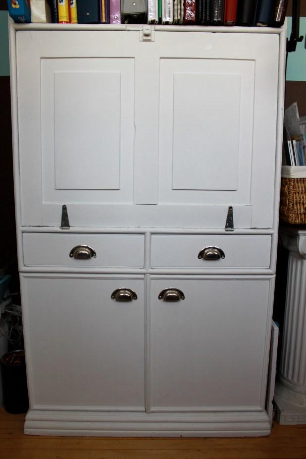 vintage cabinet make-over