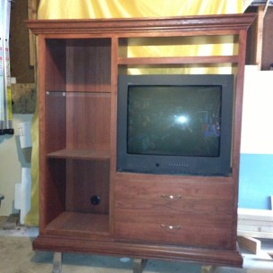 entertainment unit before