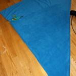 fold fabric into triangle
