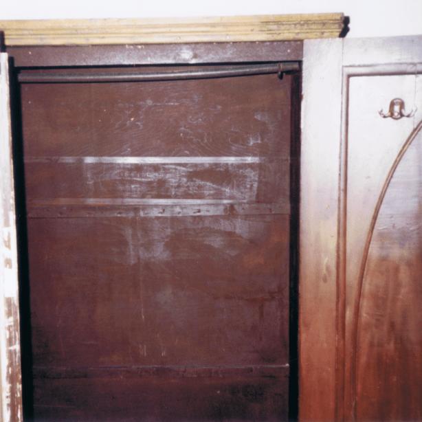 interior of wardrobe