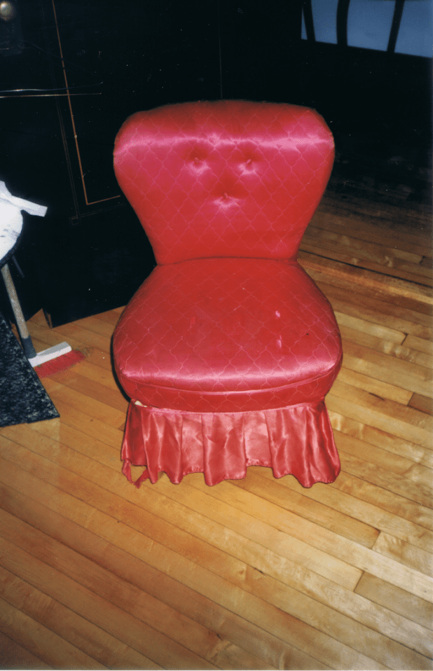 old slipper chair