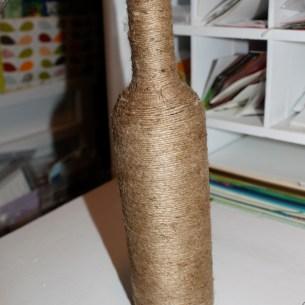 jute wrapped wine bottle