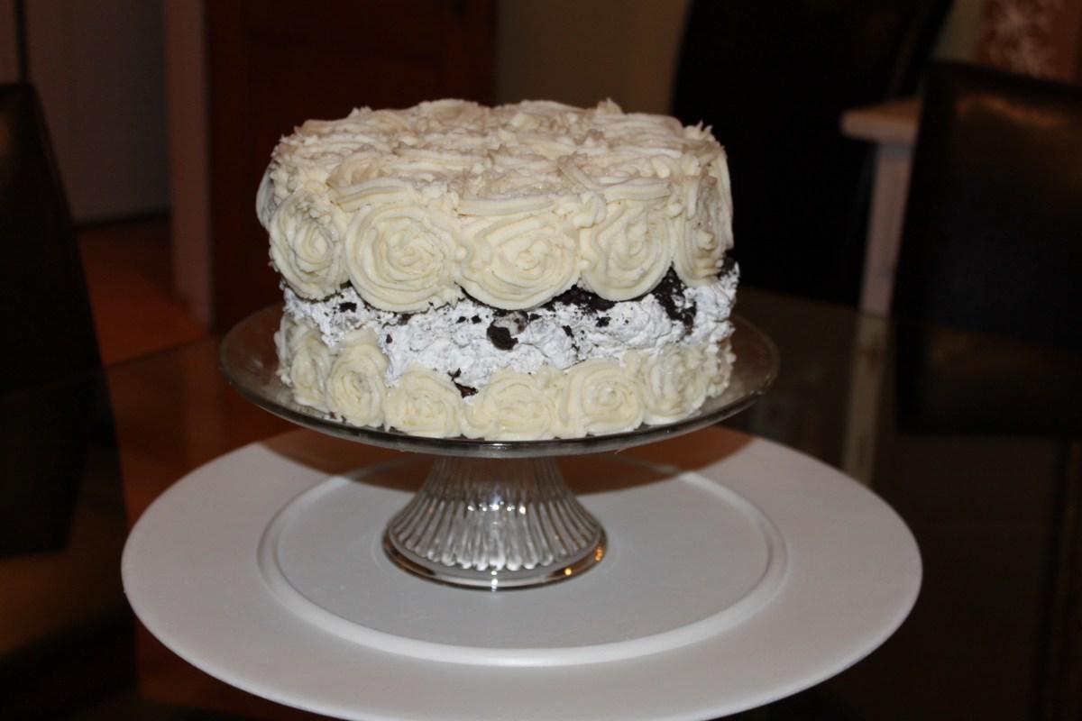 Rose Swirl Oreo Birthday Cake