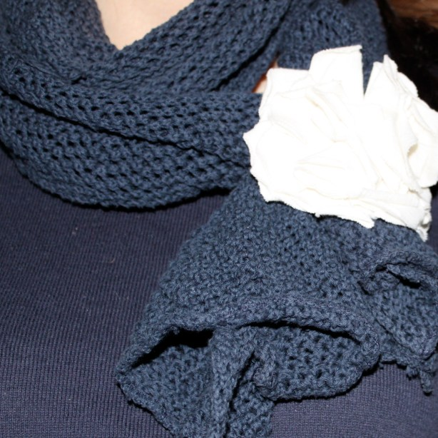 fabric scarf flower