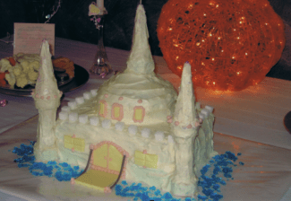 Princess Party Castle Cake