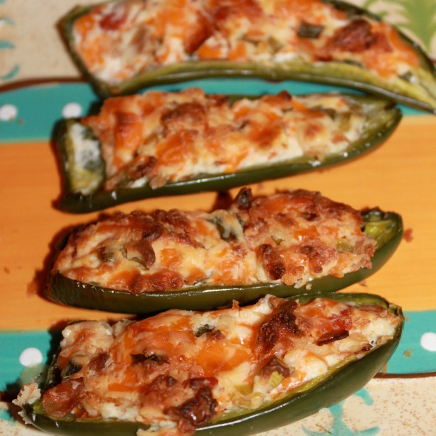 bacon cream cheese stuffed jalapeño poppers
