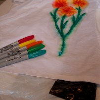 Sharpie t-shirt upcycle