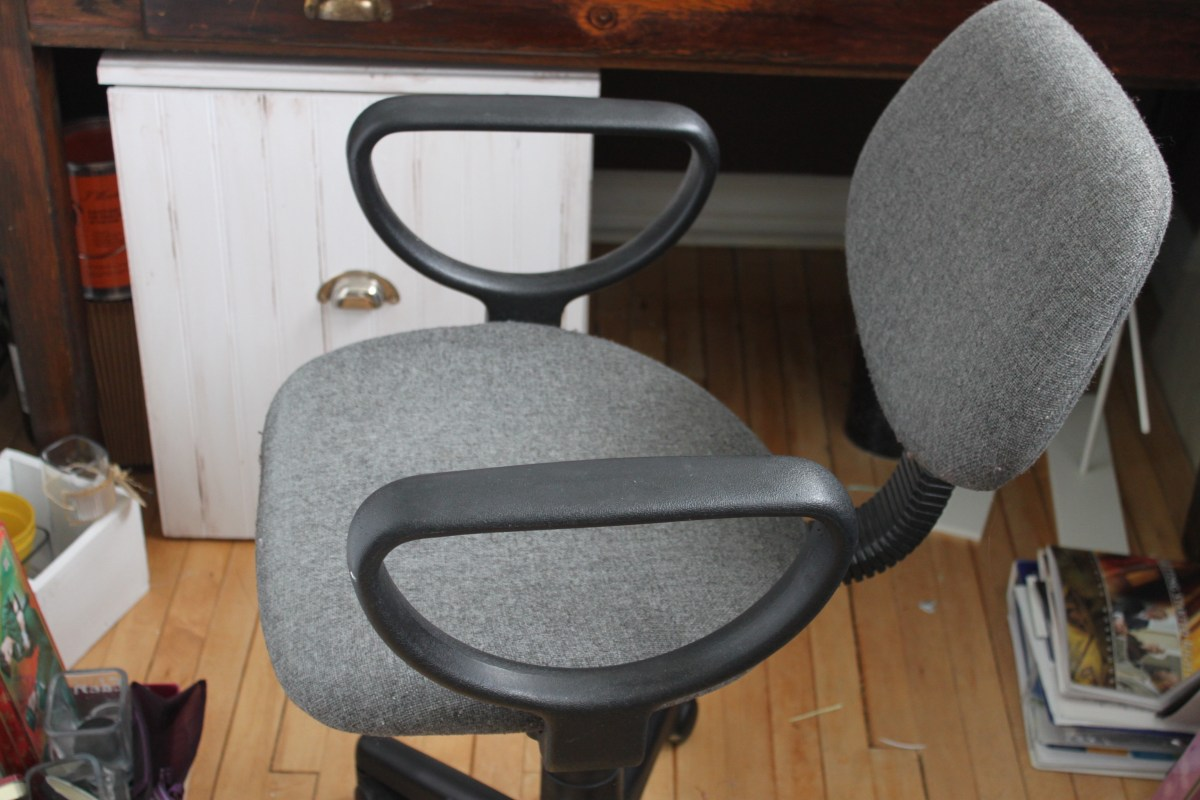 old grey office chair