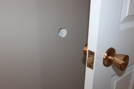 door knob hole repair