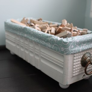 Vintage Sewing Machine Drawer upcycle
