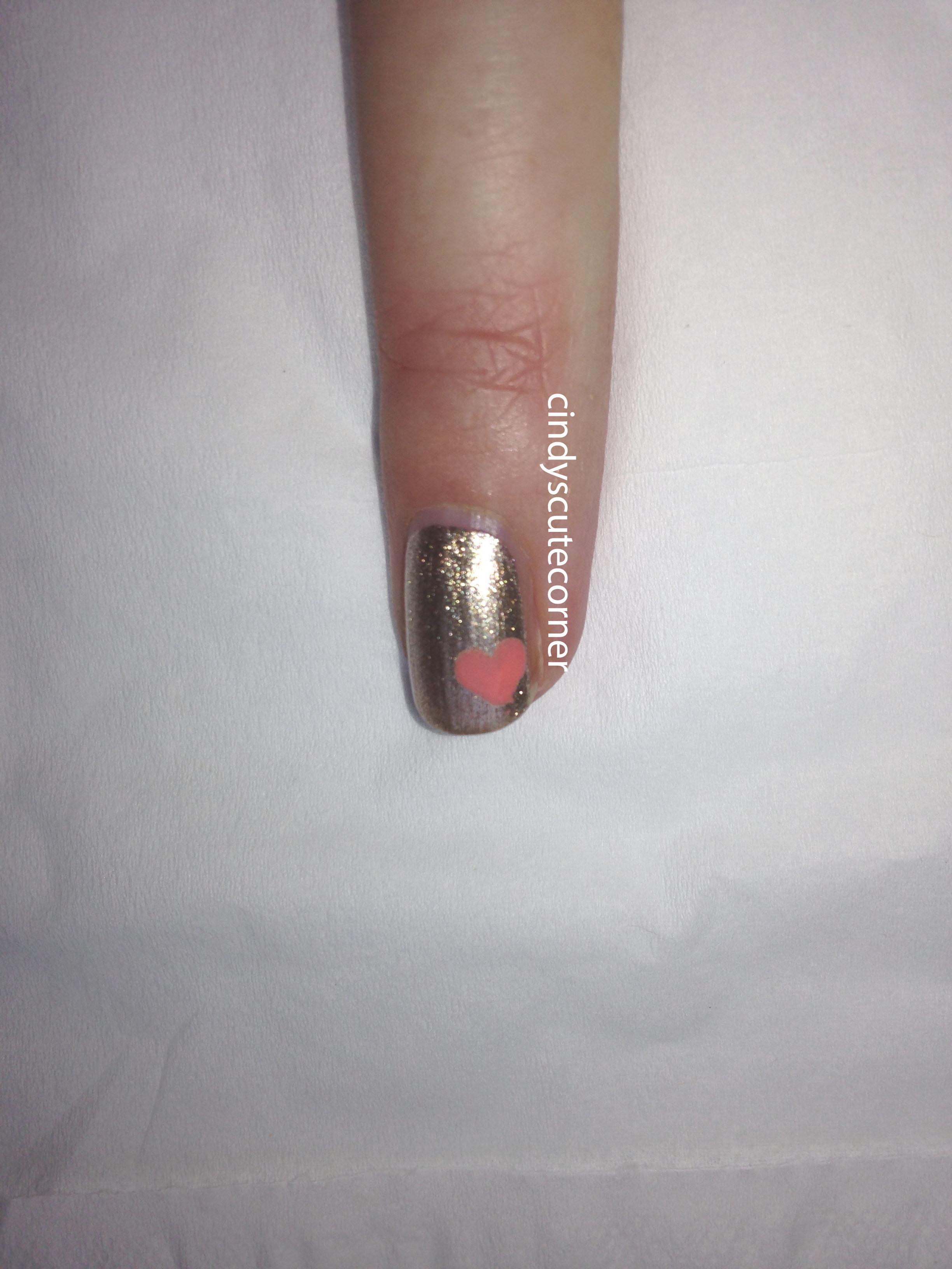 Peach and Gold Nail Design3