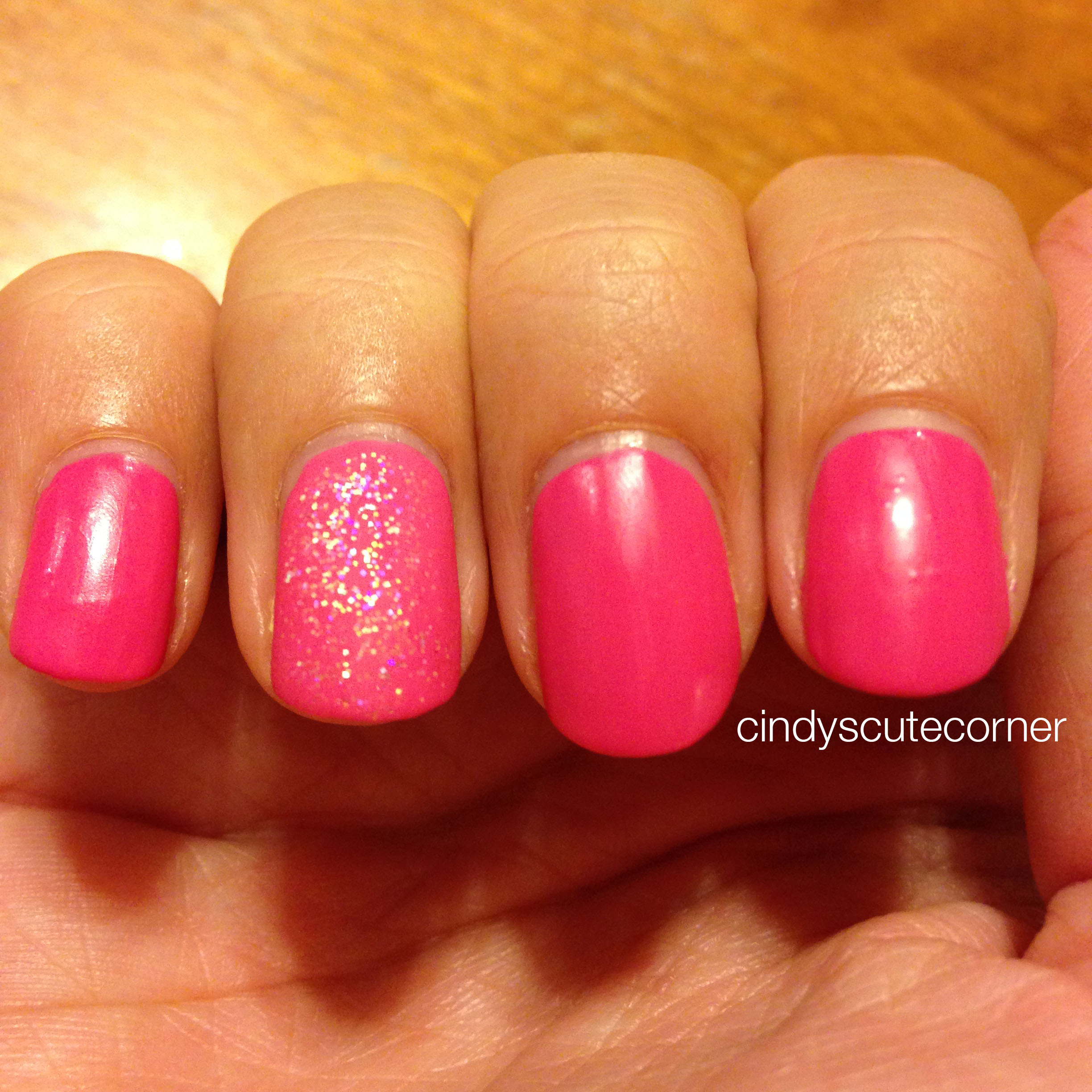 Matte Pink Nails - Cindy\'s Cute Corner