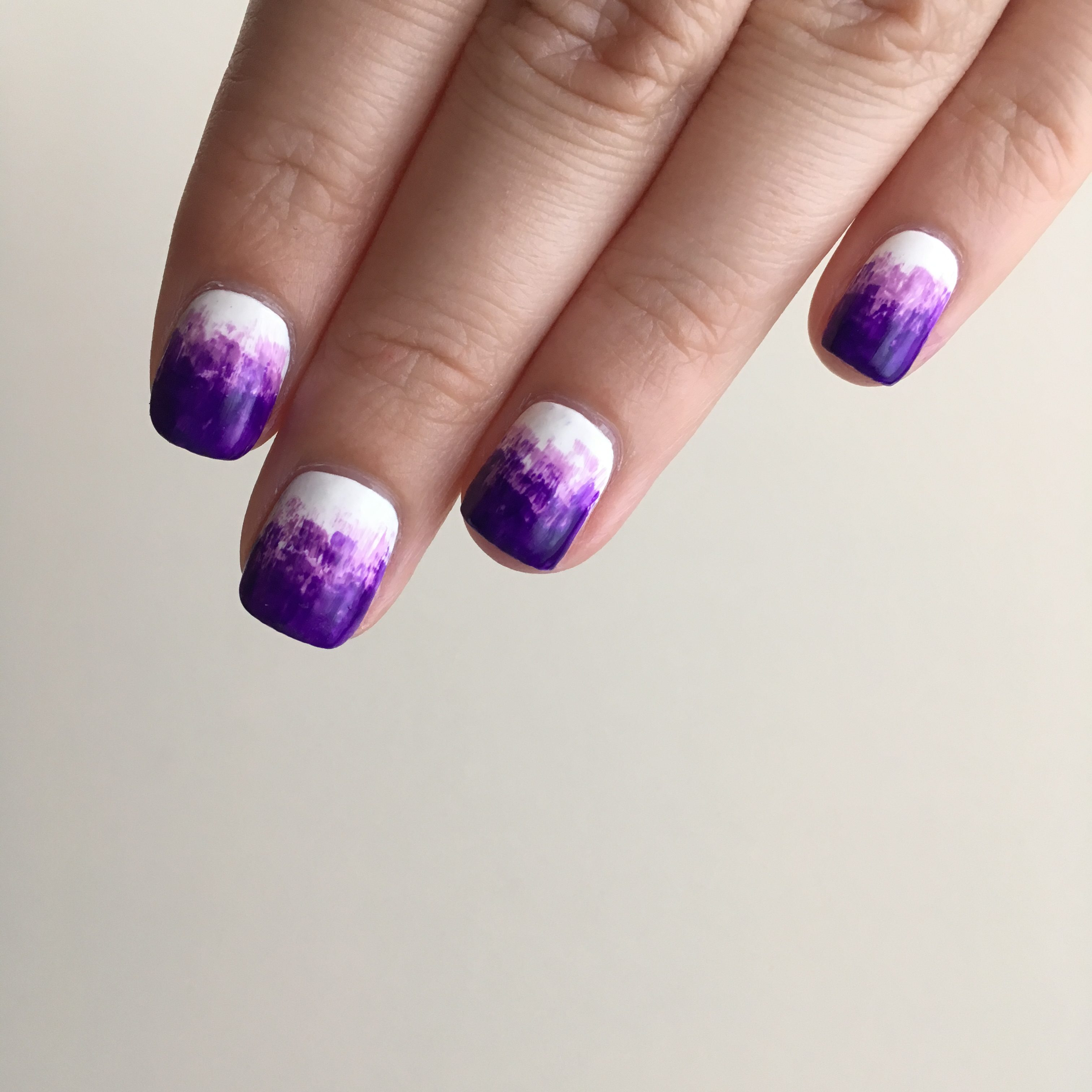 Purple Dry Brush Nails