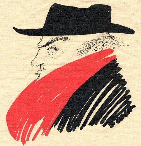 Una caricatura di Federico Fellini.
