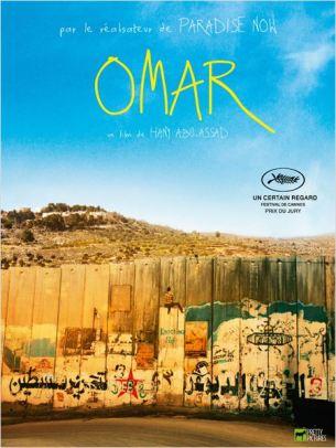 Omar vit en Cisjordanie et franchit quotidiennement le mur qui le sépare de Nadia, la fille de ses rêves et de ses deux amis d'enfance, Tarek et Amjad.   Les trois garçons ont décidé de créer leur propre cellule de résistance et sont prêts à passer à l'action. Leur première opération tourne mal.  Capturé par l'armée israélienne, Omar est conduit en prison. Relâché contre la promesse d'une trahison, Omar parviendra-t-il malgré tout à rester fidèle à ses amis, à la femme qu'il aime, à sa cause ?  Film palestinien de Hany Abu-Assad, sorti en France le 16 octobre 2013, avec Adam Bakri, Waleed Zuaiter, Leem Lubany, Samer Bisharat et Eyad Hourani.  LIRE LA CRITIQUE