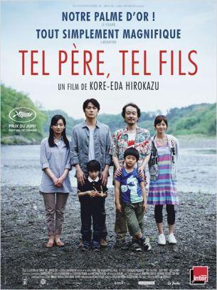 Ryoata, un architecte obsédé par la réussite professionnelle, forme avec sa jeune épouse et leur fils de 6 ans une famille bourgeoise idéale.  Tous ses repères volent en éclats quand la maternité de l'hôpital où est né leur enfant leur apprend que deux nourrissons ont été échangés à la naissance : le garçon qu'il a élevé n'est pas le sien et leur fils biologique a grandi dans un milieu plus modeste…  Film japonais de Hirokazu Koreeda, sorti en France le 25/12/2013 avec Masaharu Fukuyama, Machiko Ono, Lily Franky, Yoko Maki et Keita Ninomiya.  LIRE LA CRITIQUE