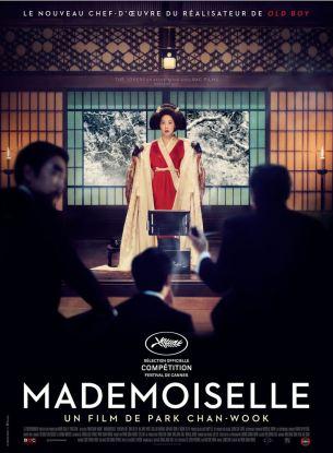 La Corée des années 30 est colonisée par les Japonais. Une jeune femme (Sookee) est engagée comme servante d'une riche japonaise (Hideko), vivant recluse dans un immense manoir sous la coupe d'un oncle tyrannique.  Mais Sookee a un secret. Avec l'aide d'un escroc se faisant passer pour un comte japonais, ils ont d'autres plans pour Hideko…  Film coréen de Park Chan-Wook, sorti en France le 2 novembre avec Kim Min-Hee, Kim Tae-Ri, Jung-Woo Ha et Jin-Wong Cho.  LIRE LA CRITIQUE