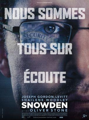 Engagé volontaire, le jeune Snowden découvre au cœur des Services de Renseignements américains l'ampleur de la cyber-surveillance.  Choqué par l'intrusion systématique dans nos vies privées, il décide de rassembler des preuves et de tout divulguer. En juin 2013, deux journalistes prennent le risque de le rencontrer dans une chambre d'hôtel à Hong Kong. Une course contre la montre s'engage pour analyser les preuves irréfutables présentées par Snowden avant leur publication. Les révélations qui vont être faites dans cette pièce seront au cœur du plus grand scandale d'espionnage de l'histoire des États-Unis.  Film américain de Oliver Stone, sorti en France le 2 novembre 2016, avec Joseph Gordon-Levitt, Shailene Woodley, Melissa Leo et Nicolas Cage.  LIRE LA CRITIQUE
