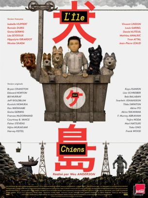 En raison d'une épidémie de grippe canine, le maire de Megasaki ordonne la mise en quarantaine de tous les chiens de la ville, envoyés sur une île qui devient alors l'Ile aux Chiens. Le jeune Atari, 12 ans, vole un avion et se rend sur l'île pour rechercher son fidèle compagnon, Spots. Aidé par une bande de cinq chiens intrépides et attachants, il découvre une conspiration qui menace la ville.  Film d'animation germano-américain de Wes Anderson, avec les voix en Français de Vincent Lindon, Isabelle Huppert, Romain Duris, Louis Garrel, Greta Gerwig, Daniel Auteuil, Léa Seydoux et Mathieu Amalric.  LIRE LA CRITIQUE