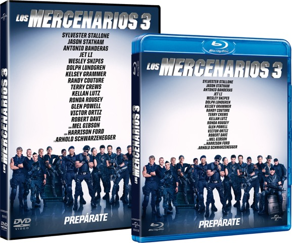 DVD Blu Ray Mercenarios 3