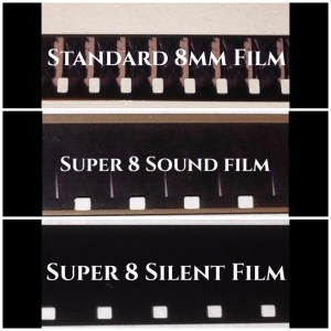 Std or Regular 8mm Cine Film, Super 8 Sound Cine Film and Super 8 Silent Cine Film