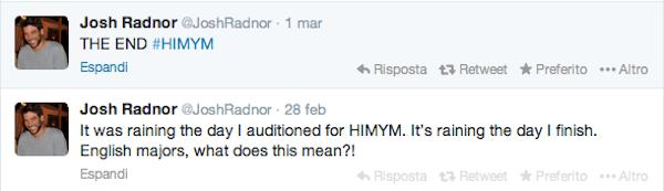 Tweet Radnor